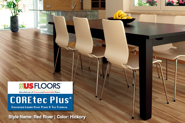 US Floors manufactures COREtec Plus, a new category of Engineered Luxury Vinyl flooring.