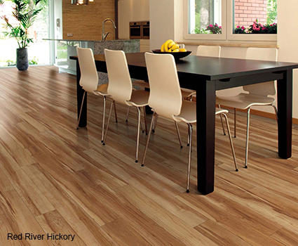 Flooring made with Coretec Plus are 100% waterproof for installation in wet areas.